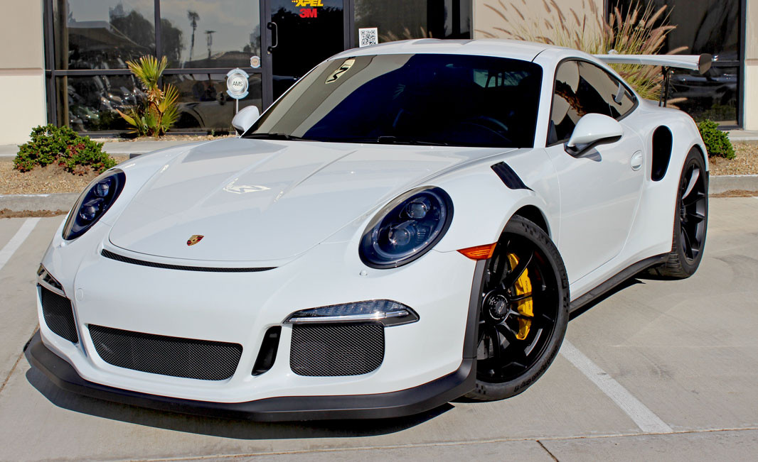 This Porsche has XPEL paint protection film and 3M Window Tint, courtesy of MasterShield.