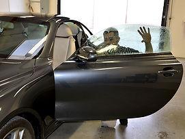 Jeremy from Mastersield is installing 3M Crystalline window tint on a grey Lexus.