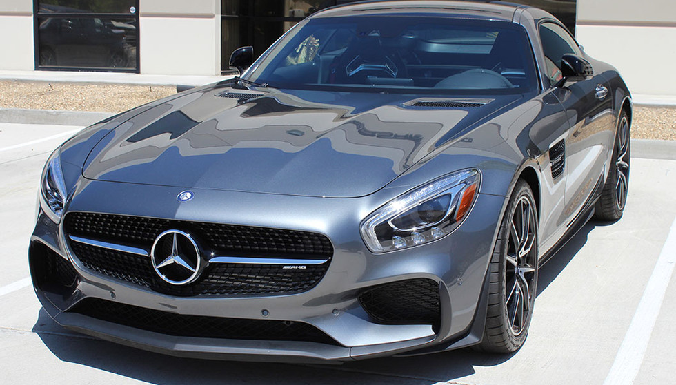 3M Crystalline Window Tint protects this Mercedes driver from 99.9% of the sun's UV Rays.