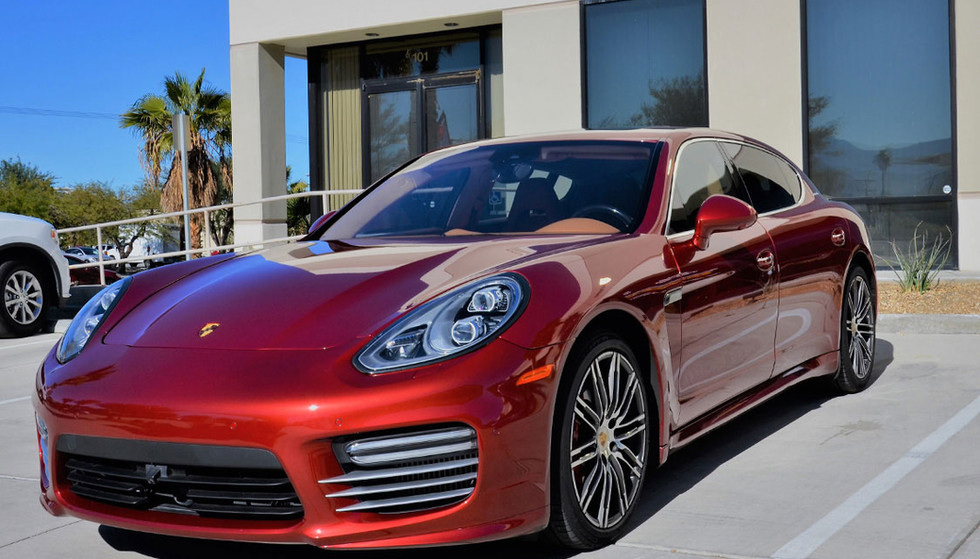 3M Crystalline Window Tint protects the driver of this red Porsche.