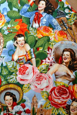 mexican pinup collage