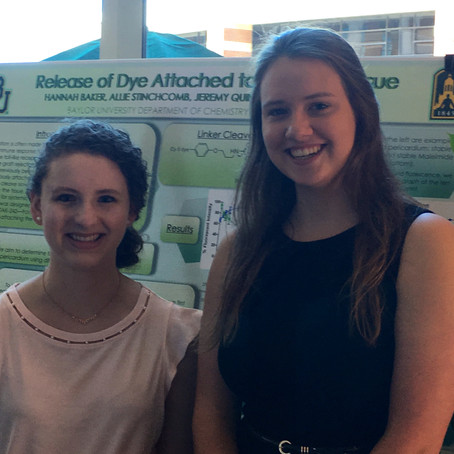 Hannah and Allie present poster