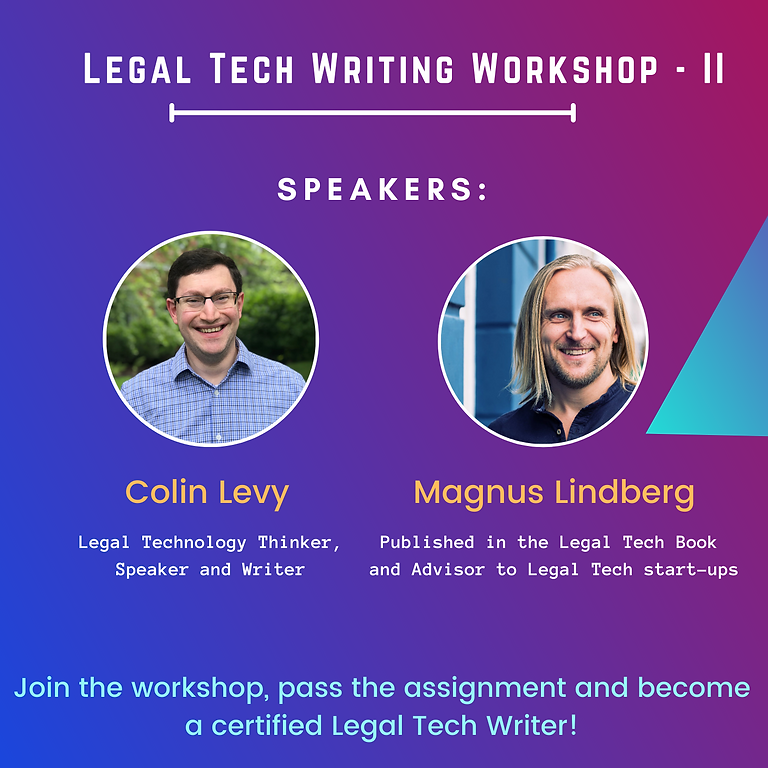Legal Tech Writing Workshop - II