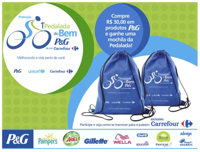 Promoção P&G Carrefour e Unicef