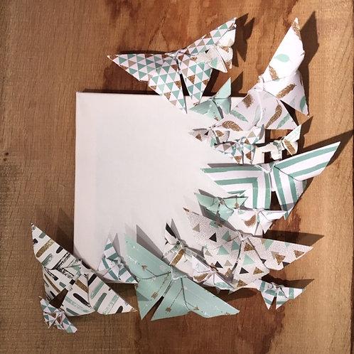 Tableau Envol de 18 papillons