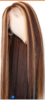 Brown/Blonde Highlights Brazilian Straight Wig
