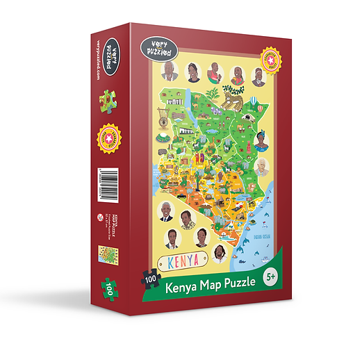 100 Piece Kenya Map Jigsaw Puzzle