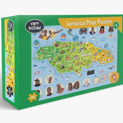 100 Piece Jamaica Map Jigsaw Puzzle
