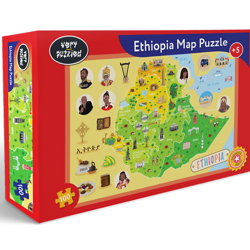 100 Piece Ethiopia Map Jigsaw Puzzle