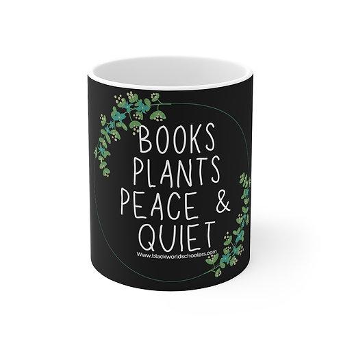 BOOKS & PLANTS 11oz White Mug