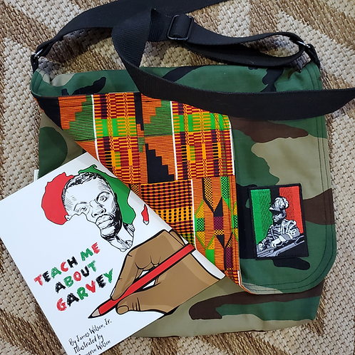 Camo Messenger Bag w/Garvey patch.  *book not included*