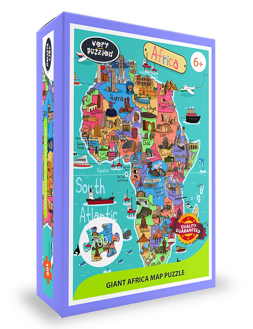100 piece Africa Map 60 x 40 cm Jigsaw Puzzle