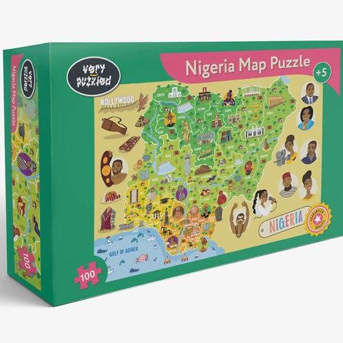 100 Piece Nigeria Map Jigsaw Puzzle