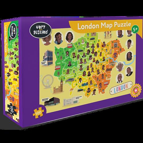 100 Piece London Map Jigsaw Puzzle
