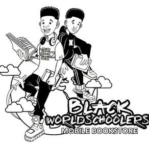 Black Worldschoolers Coloring Logo Page