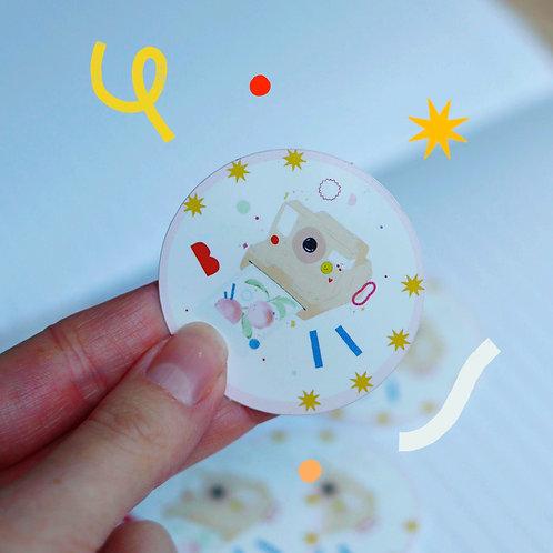Sticker rond 5x5cm