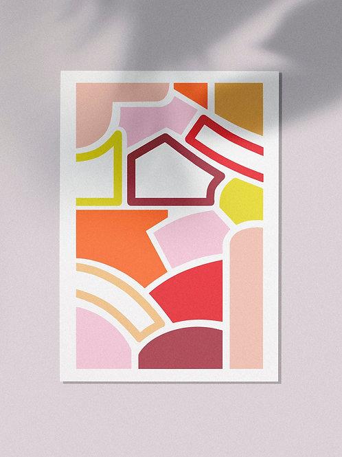Affiche A4 Abstrait 210 x 297 mm