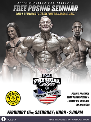 February 16 Florida posing seminar Golds