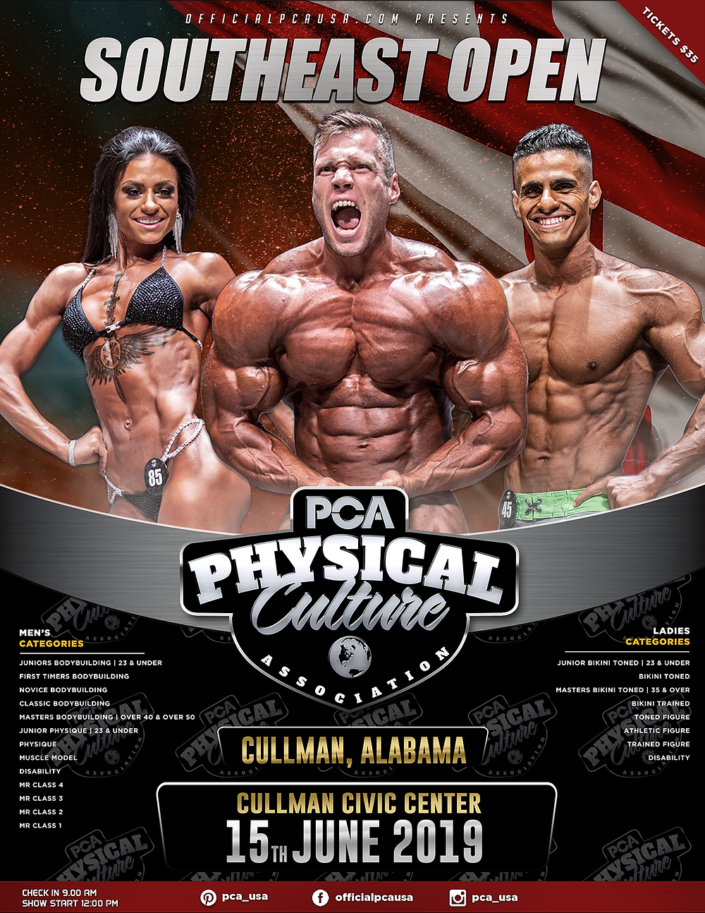 Southeast Open Bodybuilding Poster
