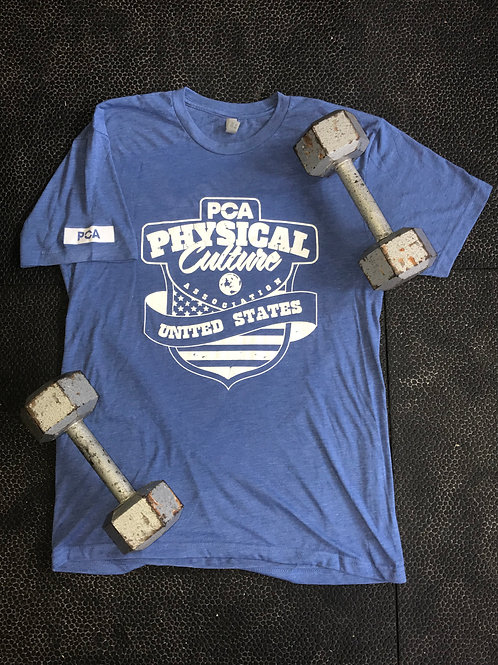 PCA USA on Blue T-Shirt
