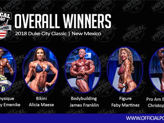 2018 Duke City Classic Bodybuilding and Physique Event | Winners and Invitations to Team USA