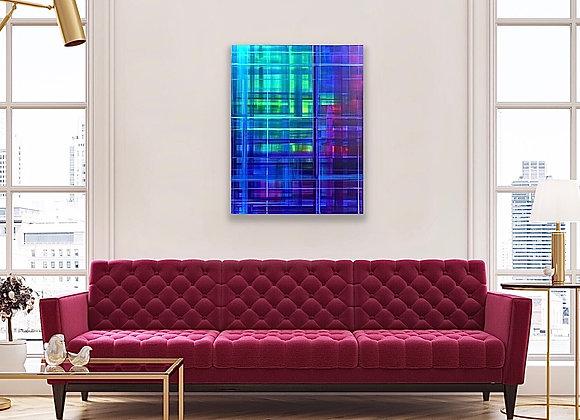 "Lily Plaid | 22"" x 28"" Acrylic on Canvas | Brandy Kenimer"