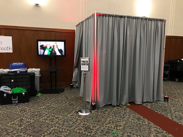 Deluxe Photo Booth rental - Grey