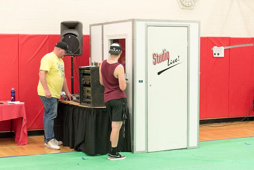 Karaoke recording booth