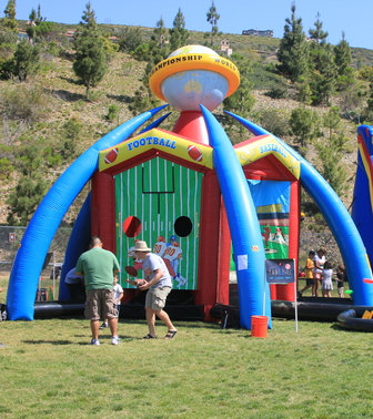 Outdoor amusements and games for rent