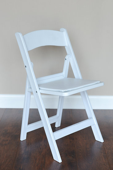 white resin wedding chairs for rent