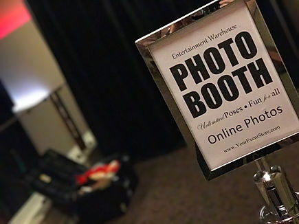 Photo Booth Chrome Stanchion Setup