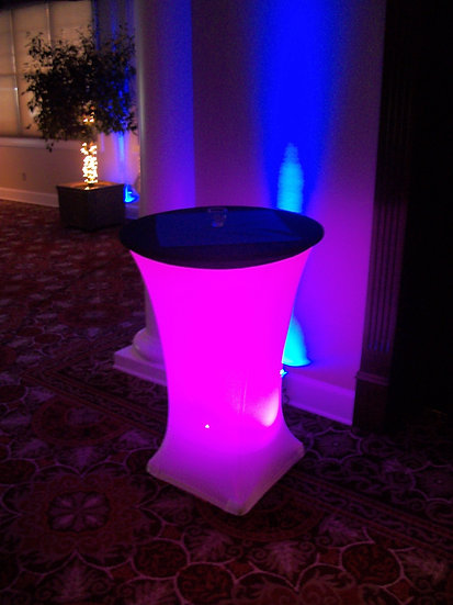 Lighted tables for event rents in Spokane