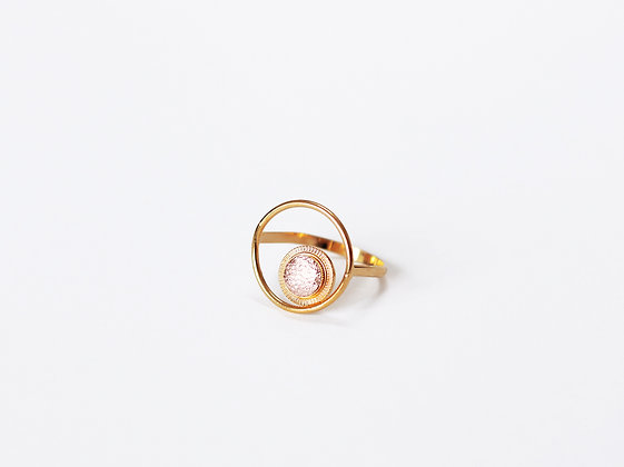Bague MAOU RING or rose