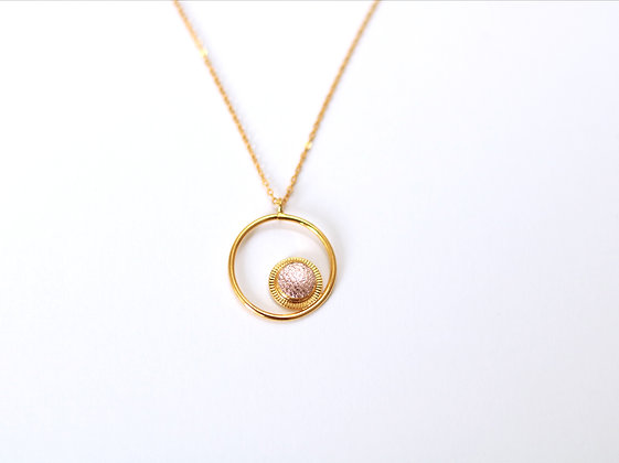 Collier MAOU RING or rose
