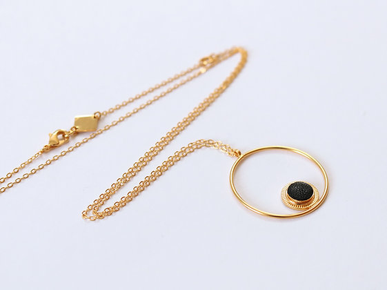 Collier MAOU RING noir