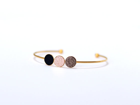 Bracelet TRIO métallisé