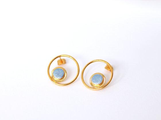 Puces MAOU RING bleu princesse