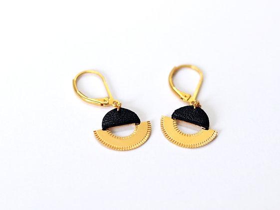 Boucles d'oreilles LICHT noires