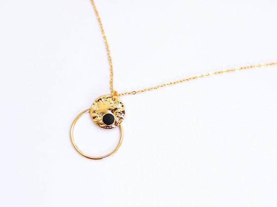 Collier MINI PEPI RING noir
