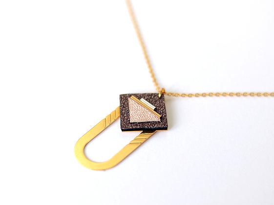 Collier SAQ brun cosmique
