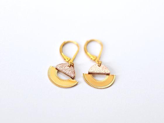 Boucles d'oreilles LICHT or rose