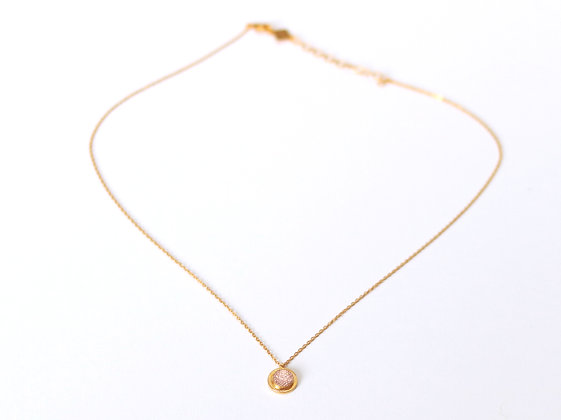 Collier MAOU or rose