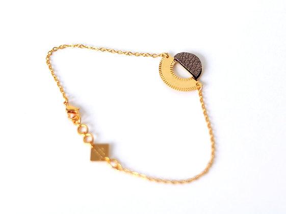 Bracelet LICHT brun cosmique