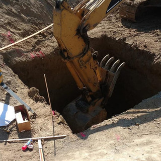 Digging for Pond Sump Chamber