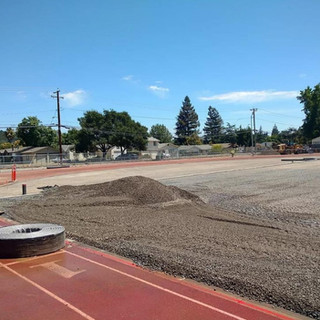 Grading Permeable Rock for Artifical Turf Field