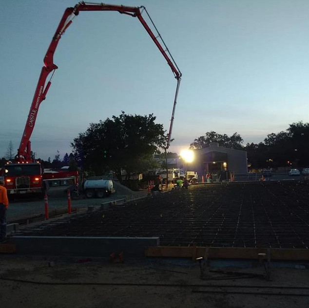 Our Slab Being Poured