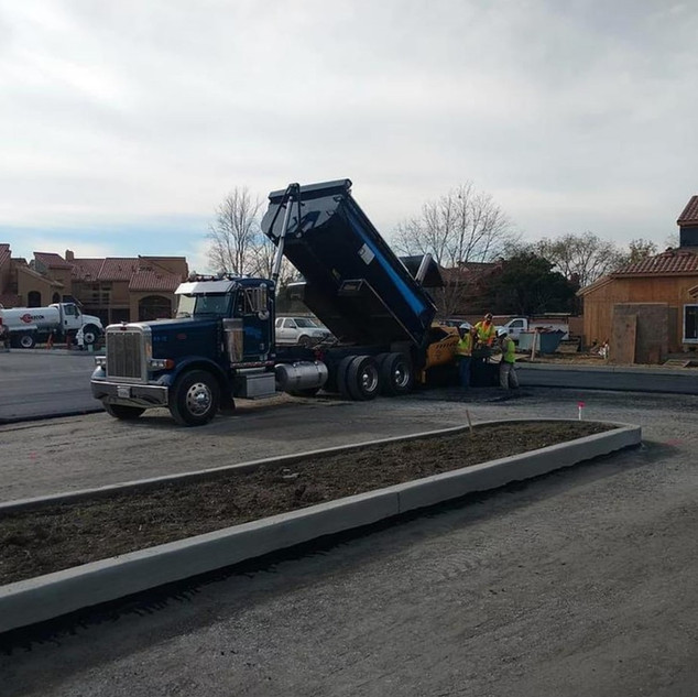 Paving Parking Lot