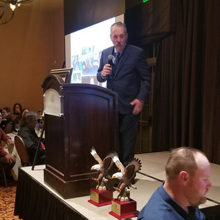 Jerry Engelke Accepting Award