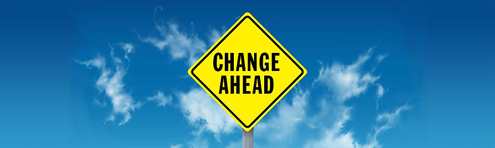 Better World Club Change Ahead road sign