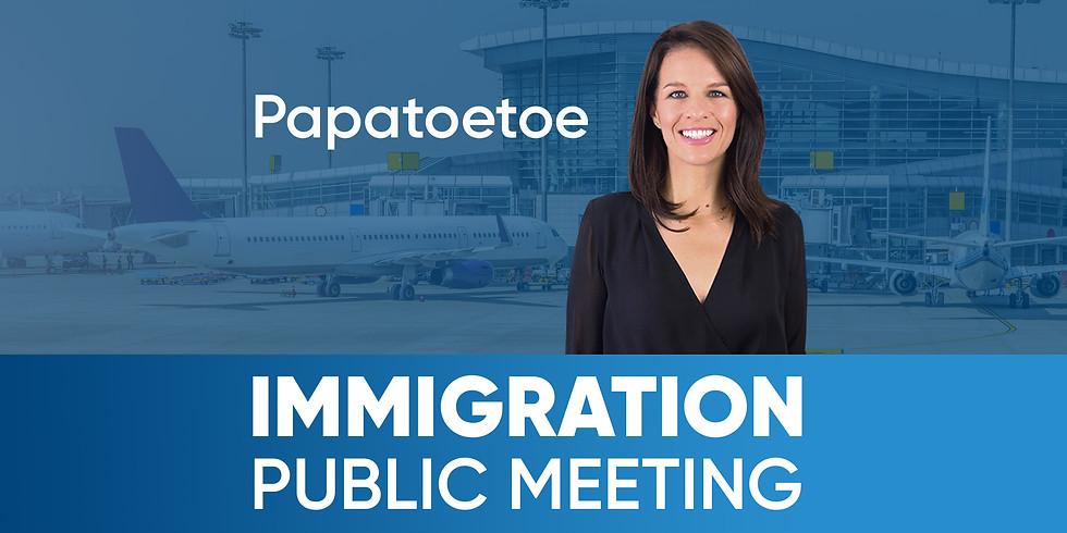 Papatoetoe Immigration Meeting